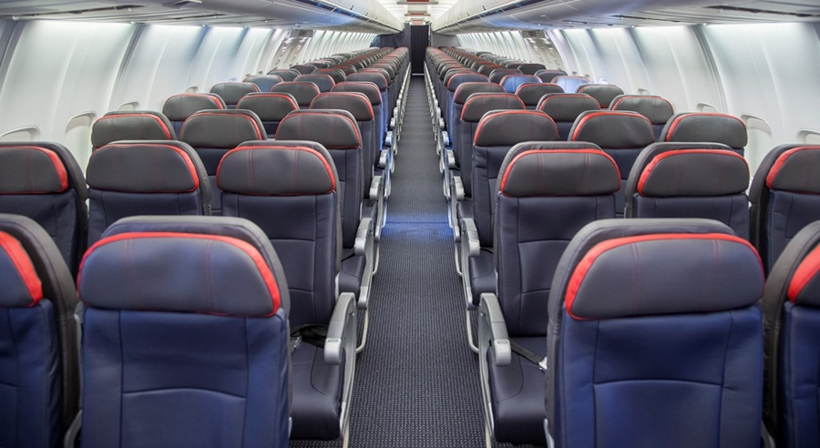 On shorter routes we use aircraft configured in a 1 class all economy layout with comfortable leather seats. (73G)