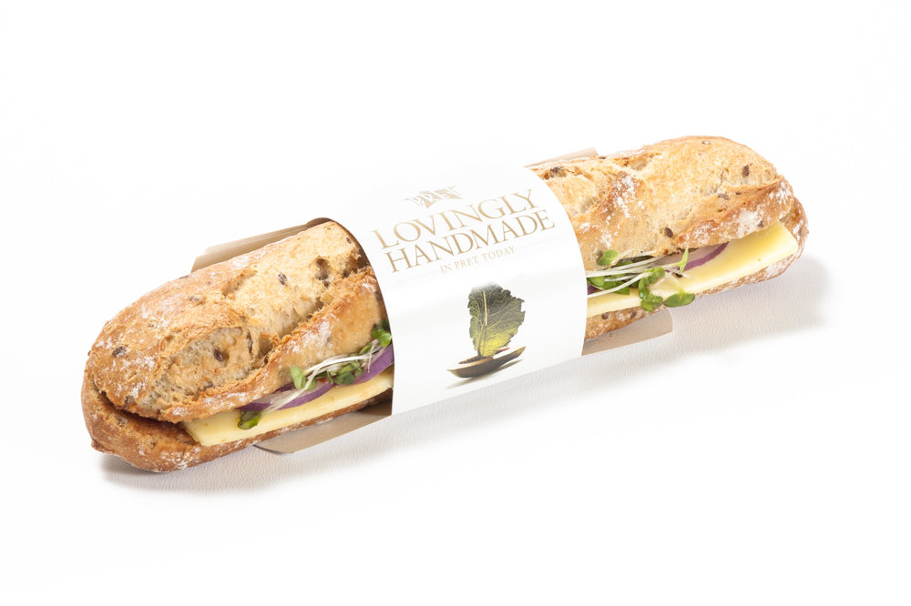 Cheese & Pickle Sandwich - by Pret