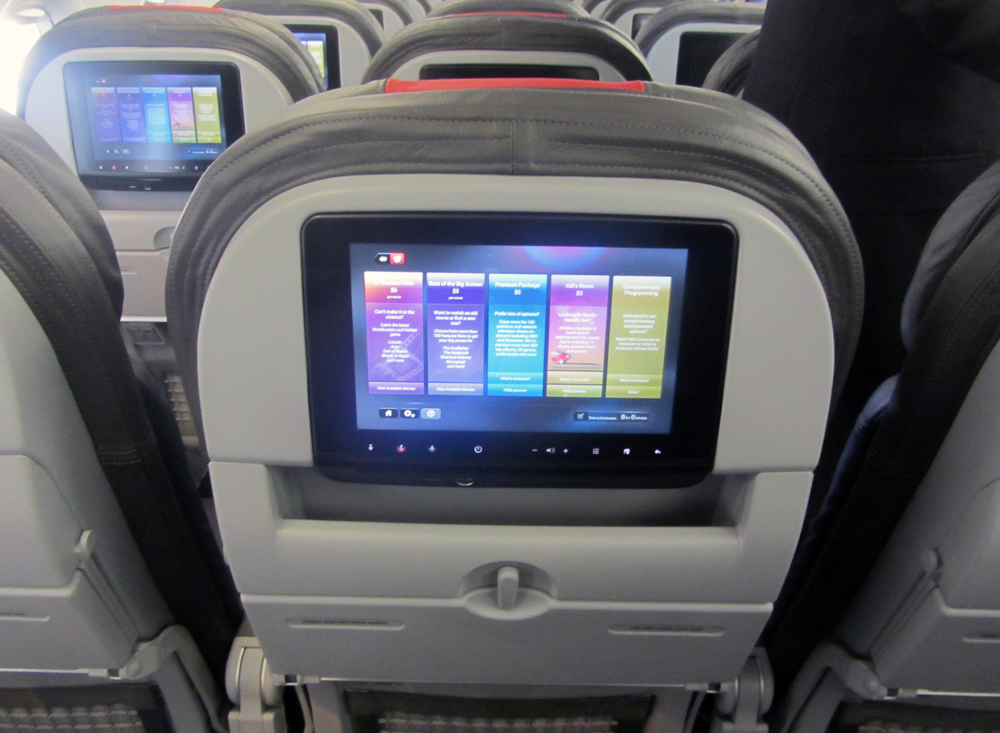 Sky Screen All of our Boeing 737 MAX aircraft will feature HD seat back screens with flight information and electronic Sky Bistro - at seat order. For an additional fee you can enjoy hours of Television, Movies, Music & Games too. Business Class passengers enjoy the full Sky Screen content as standard.