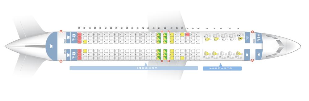Boeing 737-8 MAX ETOPS seat plan