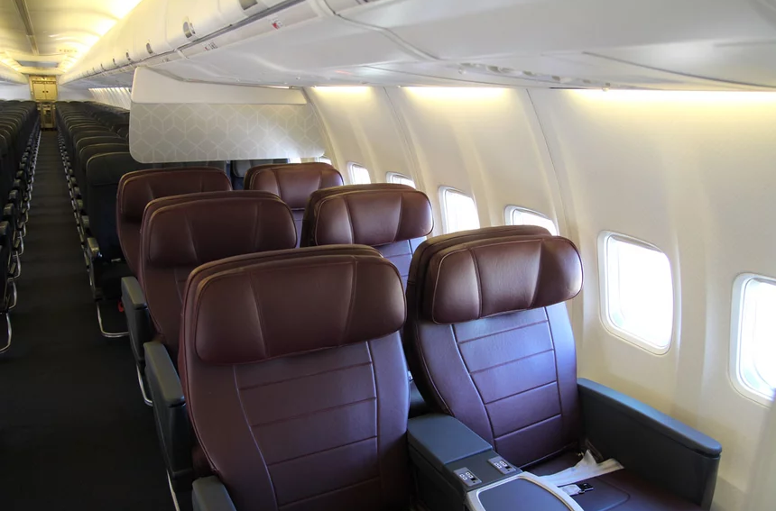 NEW Business Class seats installed on all 73W/E version aircraft as of October 2017.