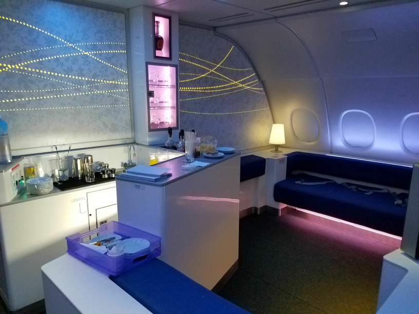 The Airbus A380 Bar Lounge area