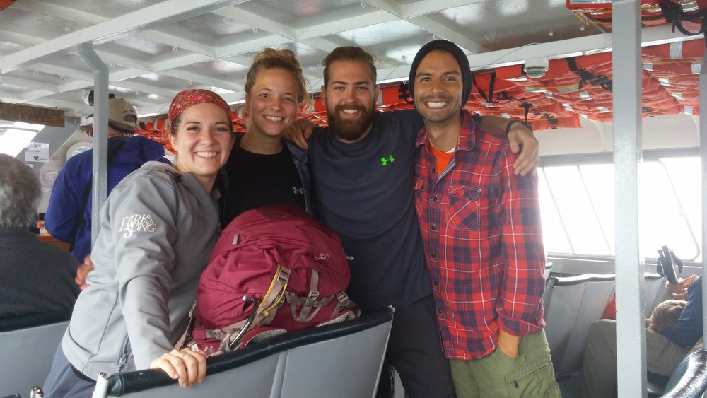 Megan Gilmore, Steph Yoder, Luke Anspach, and Levi on the Made Wild scouting trip in September 2015.
