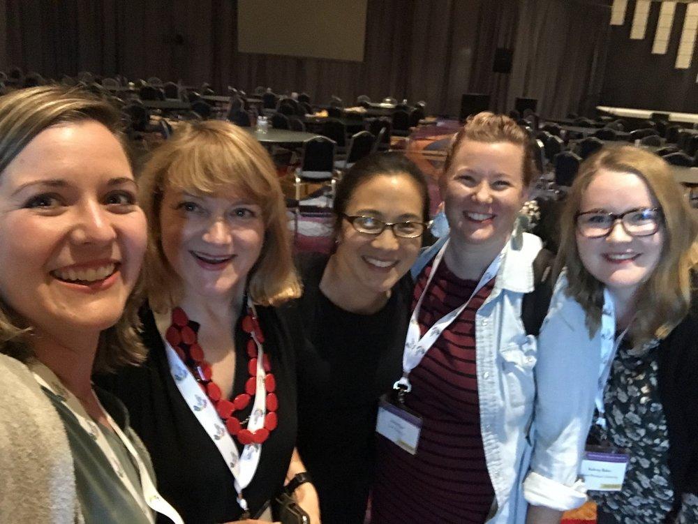 Megan Gilmore, Vanessa King, Angela Duckworth, Erica Eyer, and Aubrey Baker at WPEA/IPEN in June 2018.