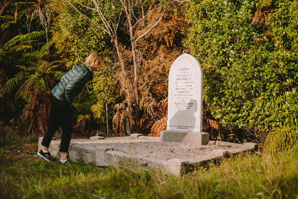 Ludovico Martini's resting spot, Stafford Cemetery, Arahura