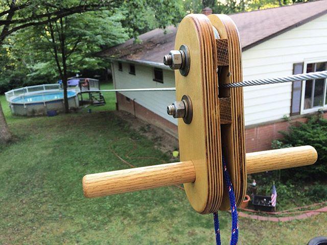 Built a #zipline #cooluncle status