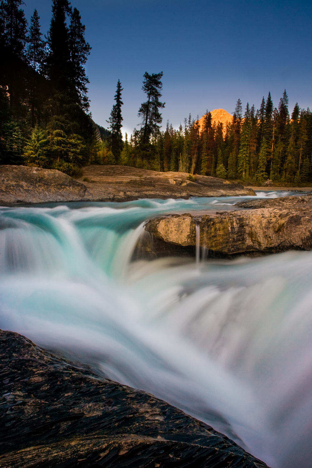 Kicking Horse River, Yoho National Park, as it begins to drop into Natural Bridge.
