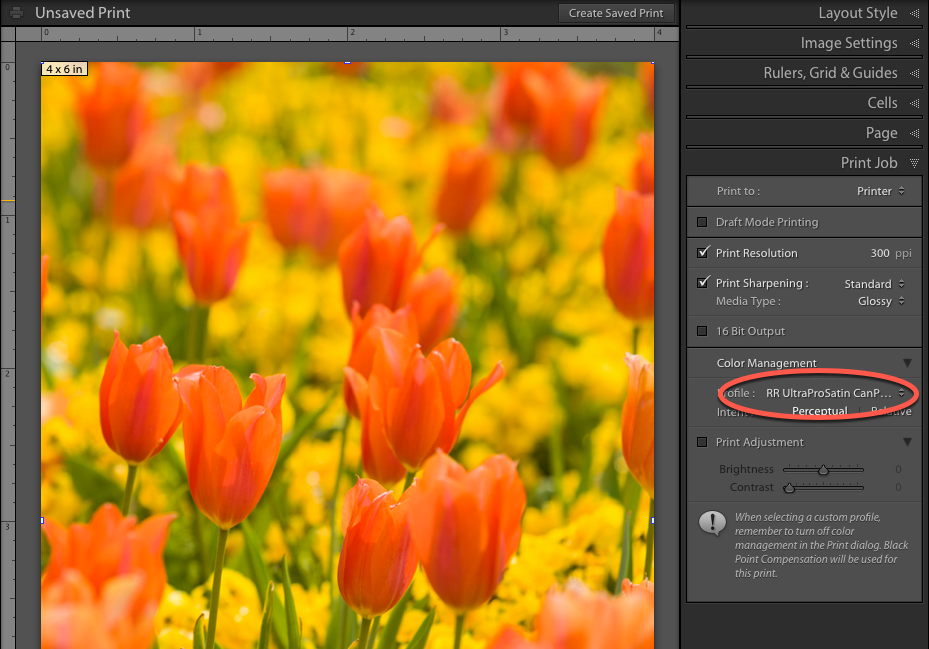 Be sure to specify a color profile in your image editing software. You may also need to turn off color management in your print driver.