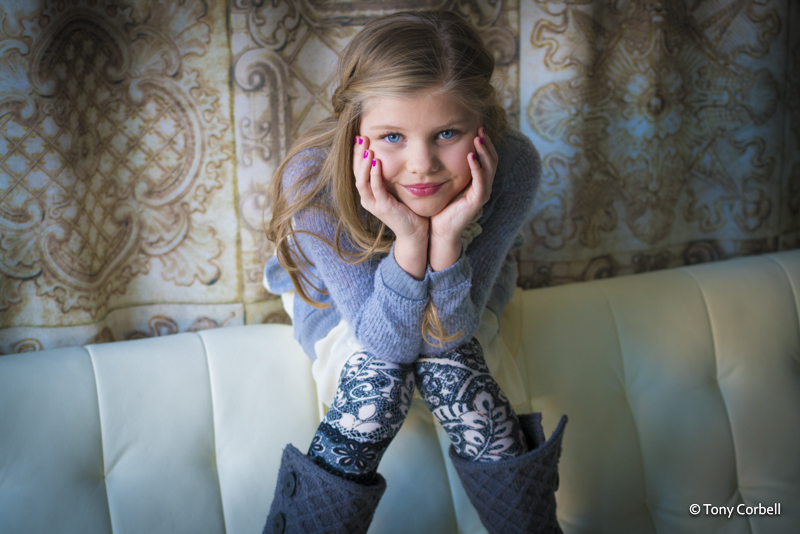 Beautiful little Avery after a portfolio session.