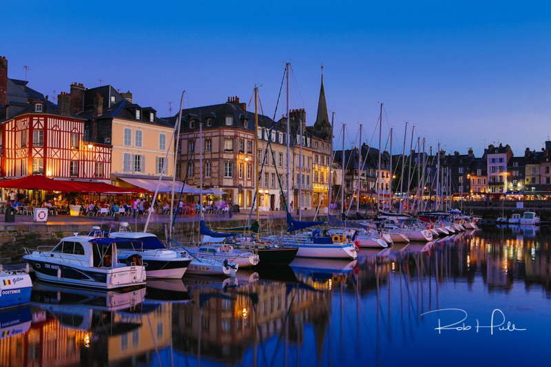 The harbor in Honfleur, France.