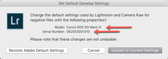 Set Default Develop Settings-Model-Serial.png