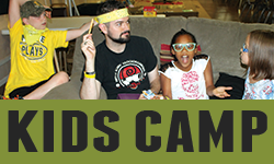 Kids Camp  is for campers in the 2nd - 6th grade range.      Kids 3-Day: June 1-3 •   Kids 5-Day: June 11-15