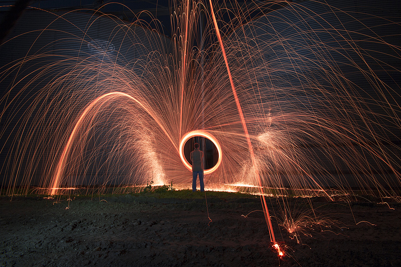 Silos and steel wool