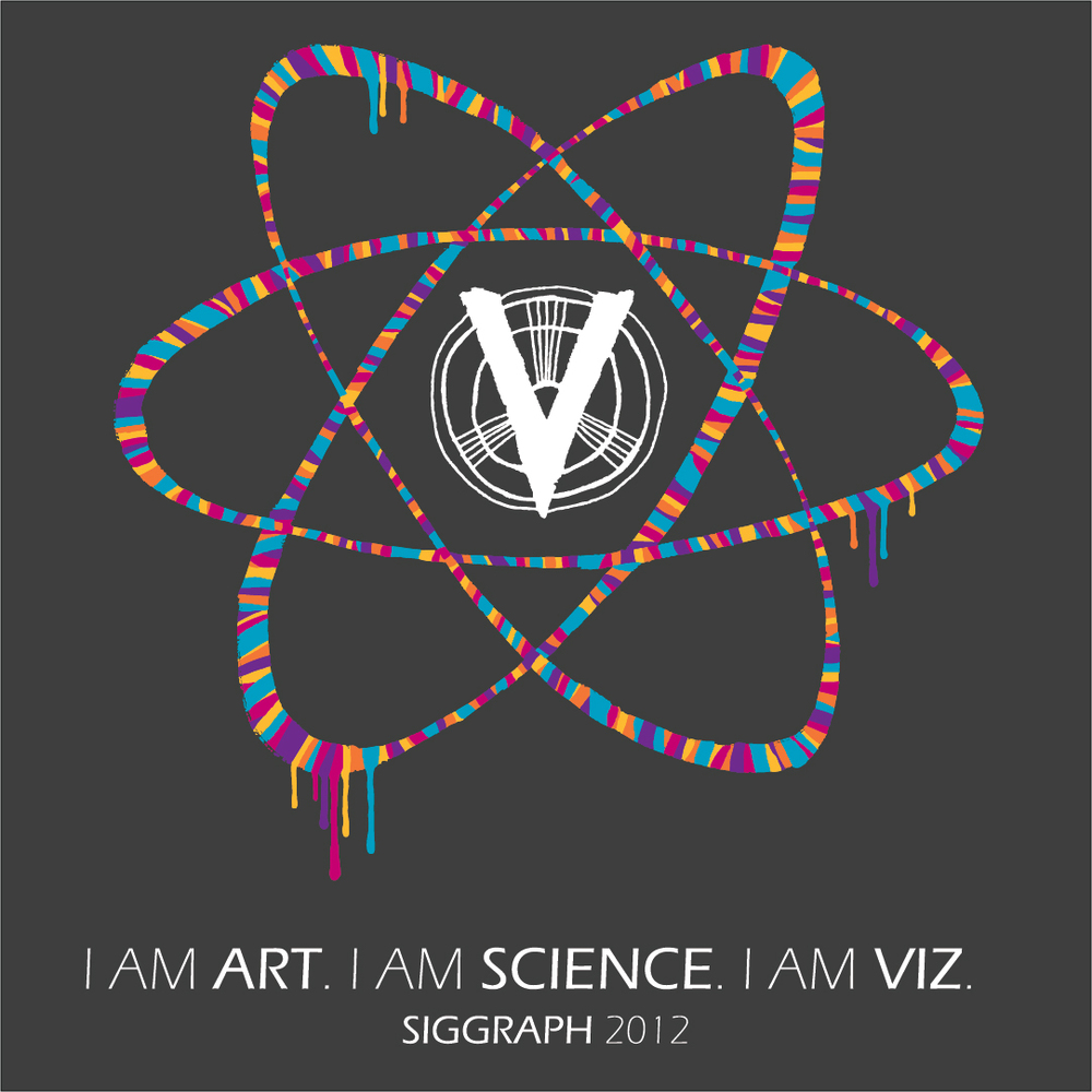 SIGGRAPH 2012 shirt design for Texas A&M Department of Visualization