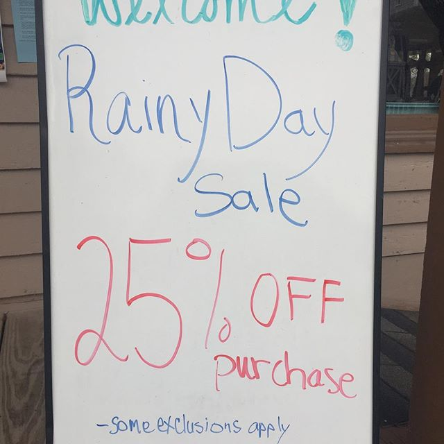 Rainy day sale!  25% OFF purchase! *some exclusions apply #shopoldtownspring #shopsmall #sale #southernglitzandglam