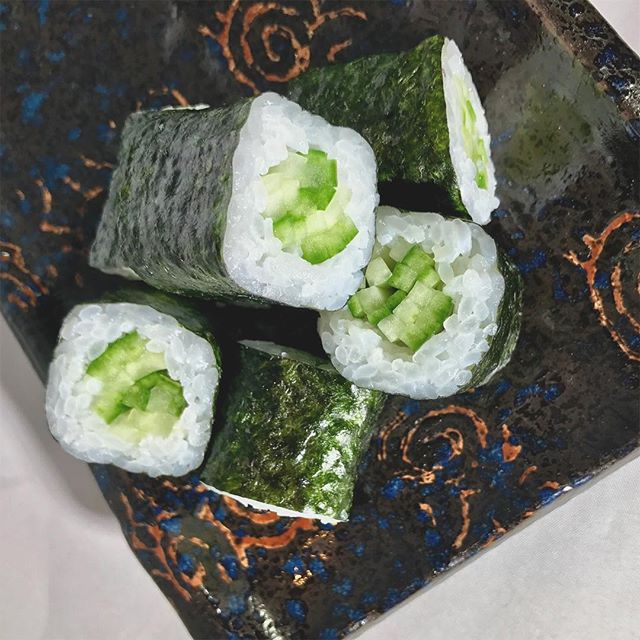 Sometimes all it takes is a simple kappa maki 🥒  _______________________________ #saucyoakland #oakland #eastbay #eastbayeats #popup #popuprestaurant #supportlocals #startup #foodofoakland #oaklandrestaurants #bayarea #bayareaeats #sanfrancisco #panasian #noms #foodstagram #food #foodie #delish #dinner #foodgasm #beautiful #happy #picoftheday #art #foodart #hungry