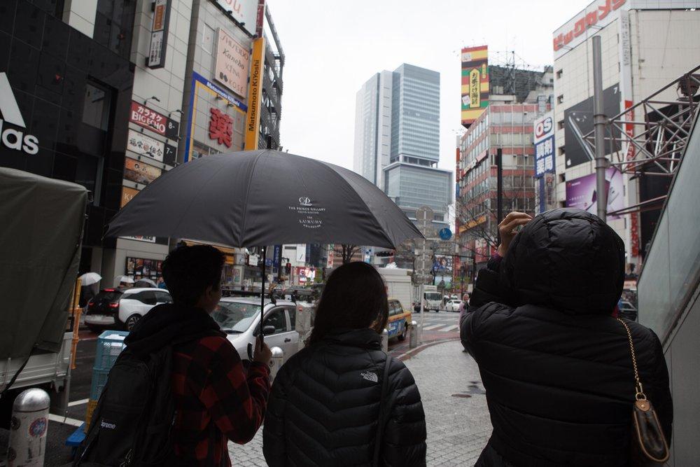 Walking through Tokyo's streets
