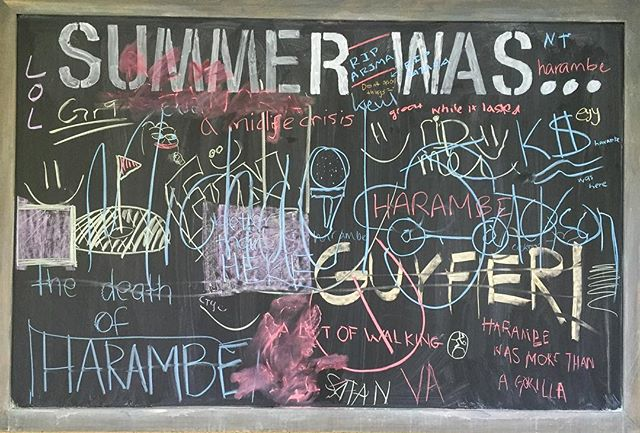08.18.16 - 08.29.16 School is back in session! What was your summer like?