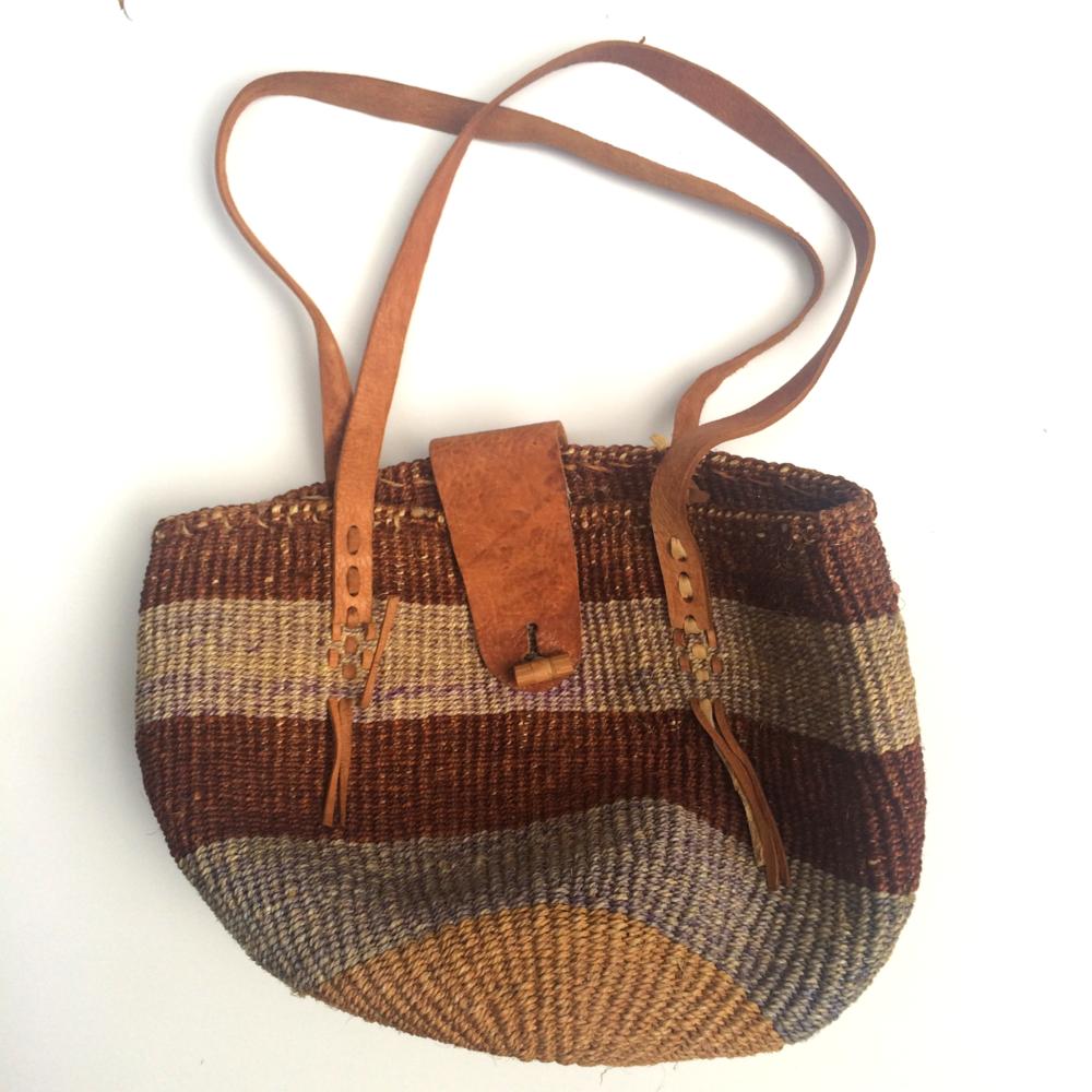 VINTAGE AFRICAN WOVEN BAG                     $75