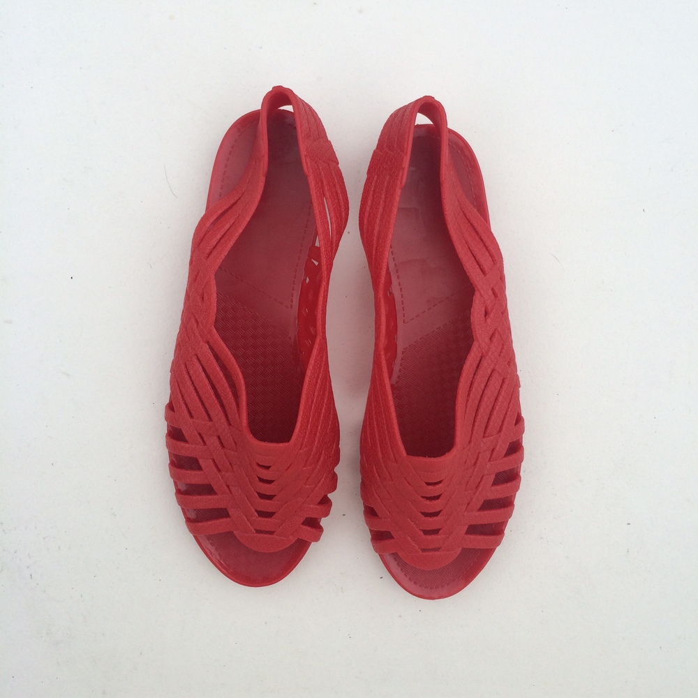 RED SANDALS                    $39