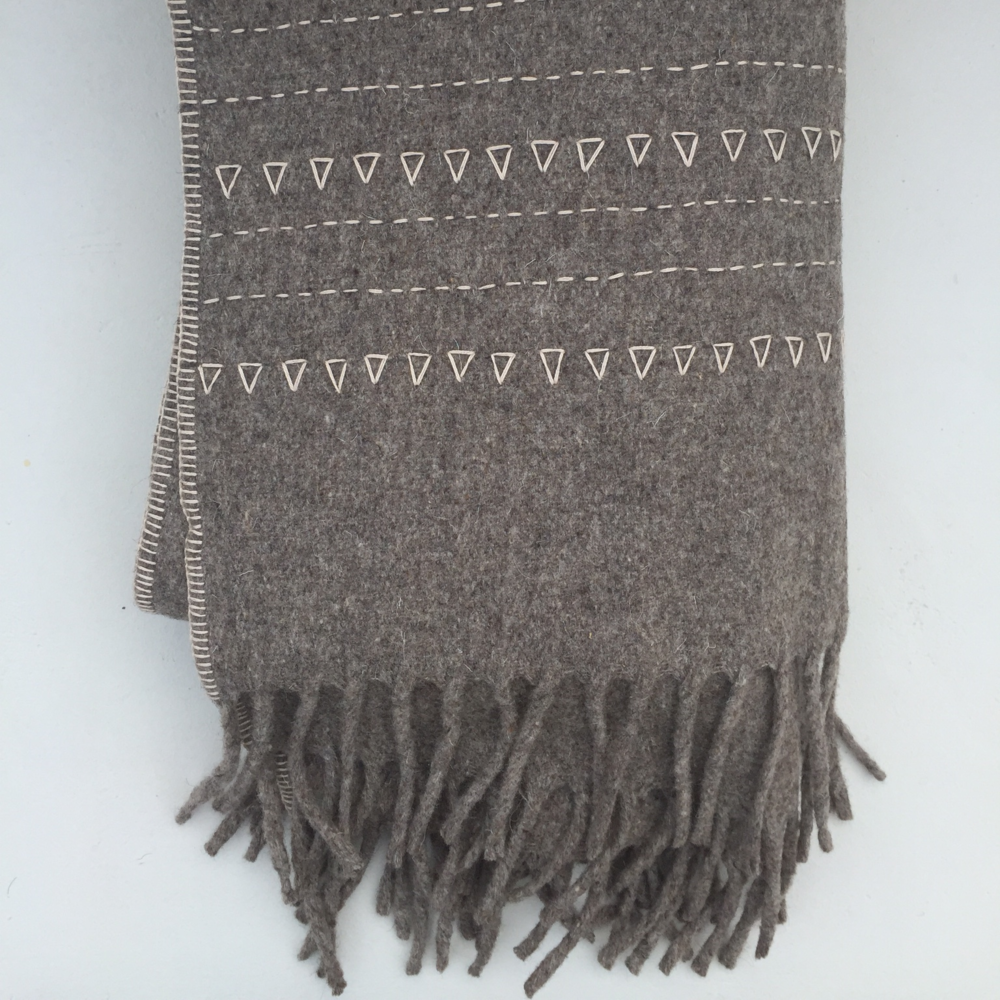 EMBROIDERED WOOL BLANKET                      $225