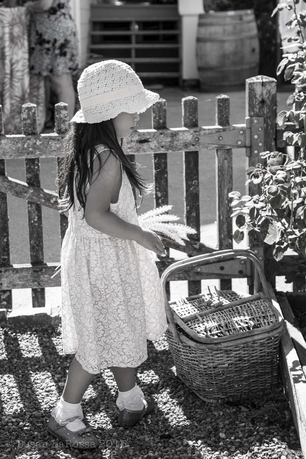 flower girl in the garden, Durell Vineyard