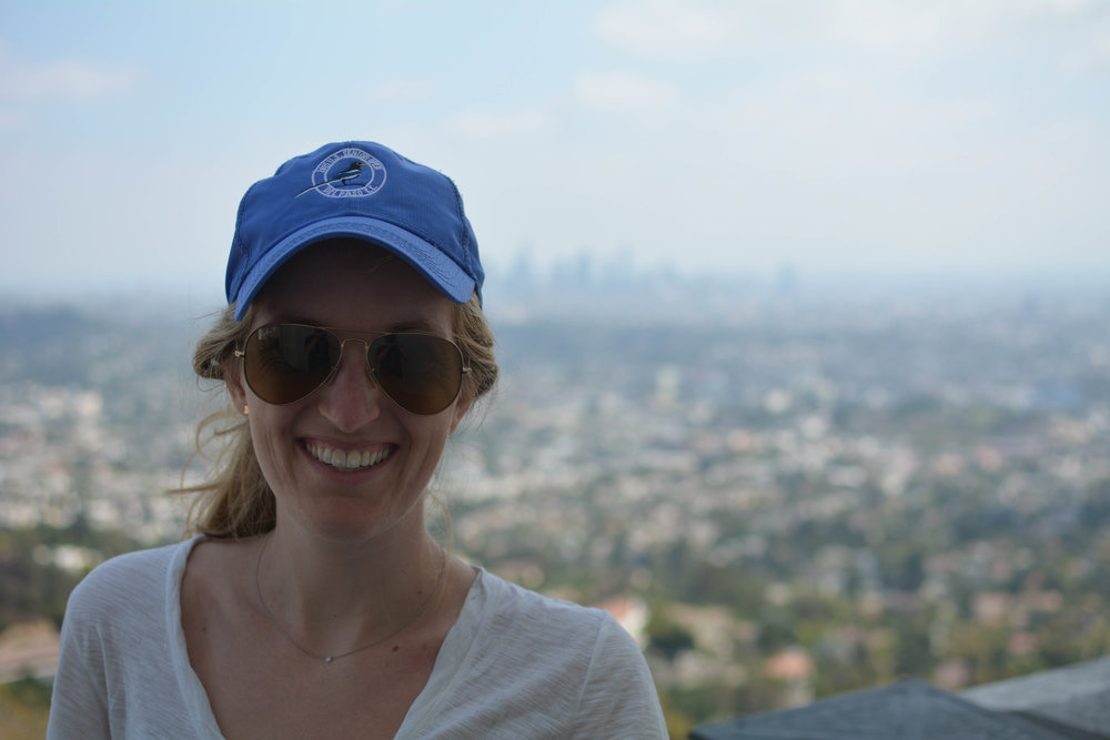 Made it to Griffith Observatory. Confession: behind those sunglasses, I am totally exhausted. Happy, and exhausted.