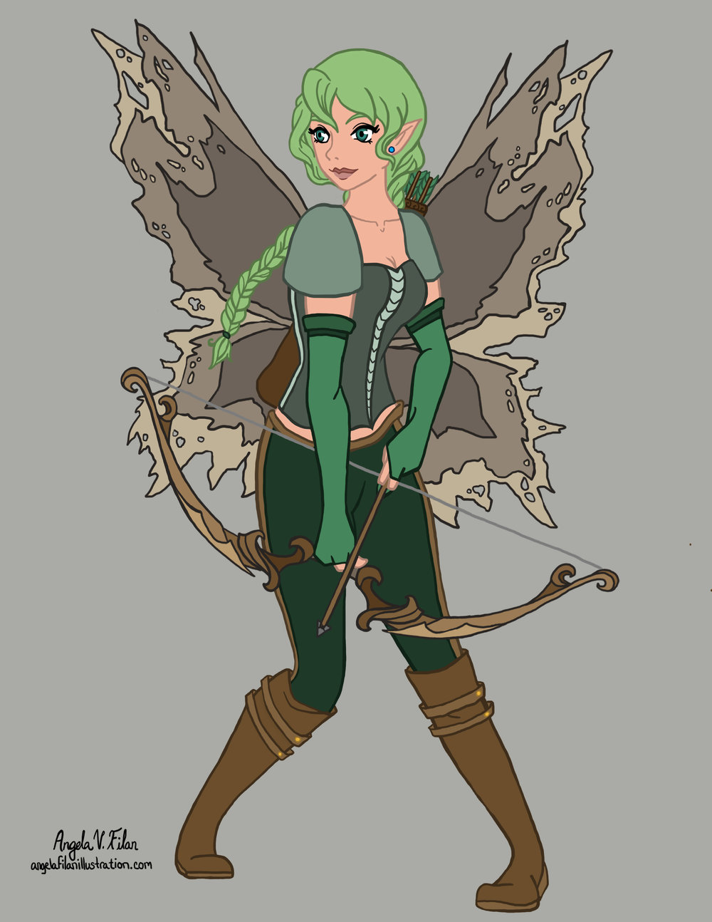 character design concept art angela filan illustration