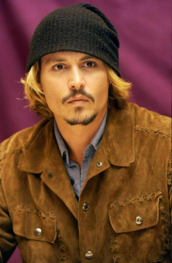 Blonde or brunette, Johnny Depp rocks a beanie!