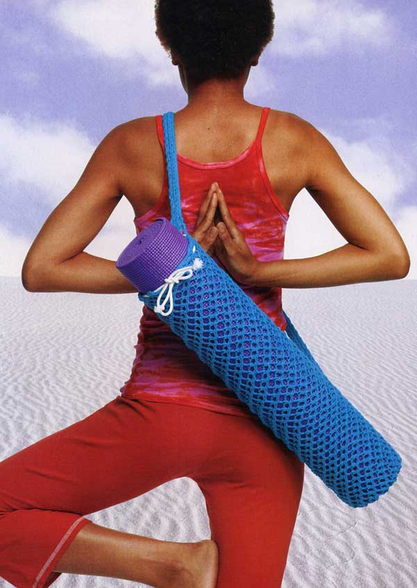 Canadian Living pattern for this knitted yoga bag  here