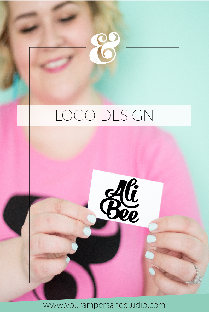 All-new logo design for Ali Bee - photographer and lifestyle blogger - www.yourampersandstudio.com