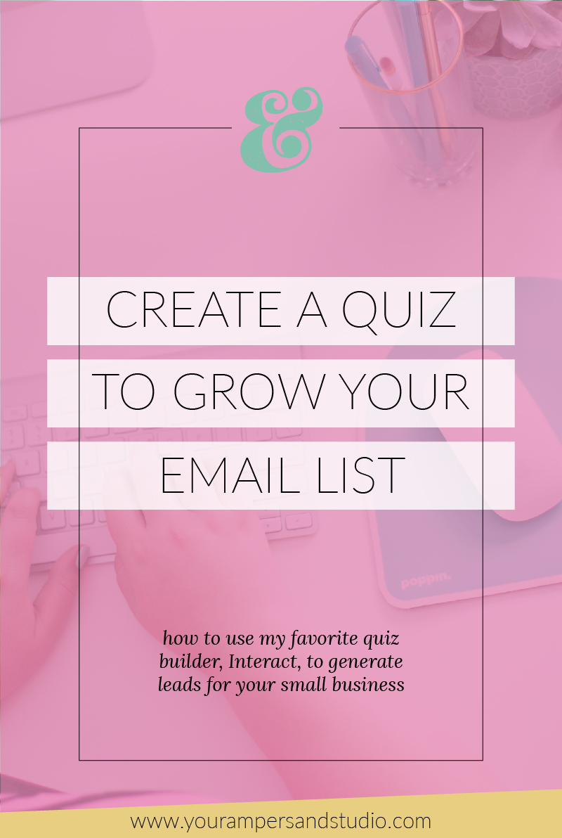How to use the quiz-builder TryInteract.com to grow your email list and generate leads for your small business