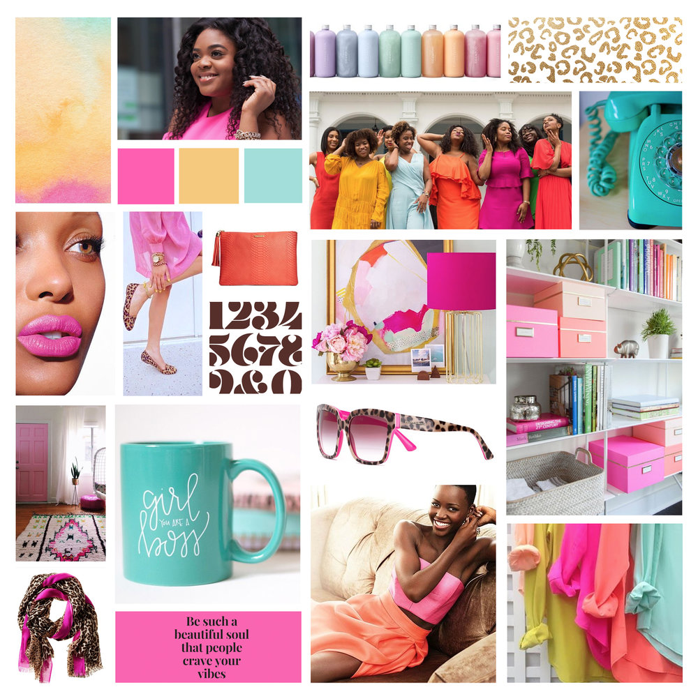 Moodboard for Love Brown Sugar brand - created by Your Ampersand Studio