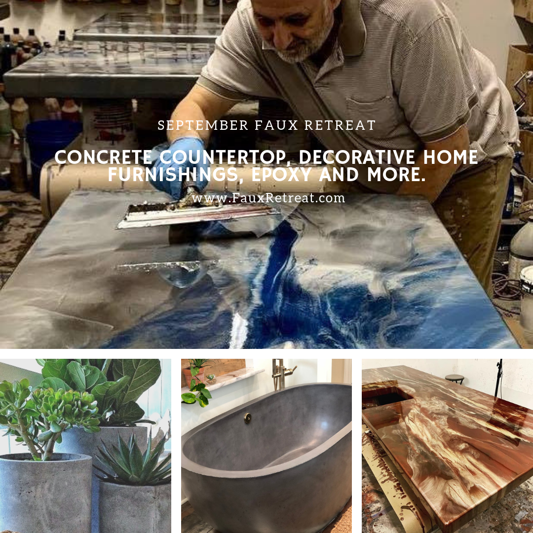 Concrete and Epoxy Resin Classes — Faux Retreat