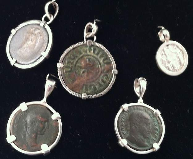 Roman Coin Pendants-Some from the 14th century