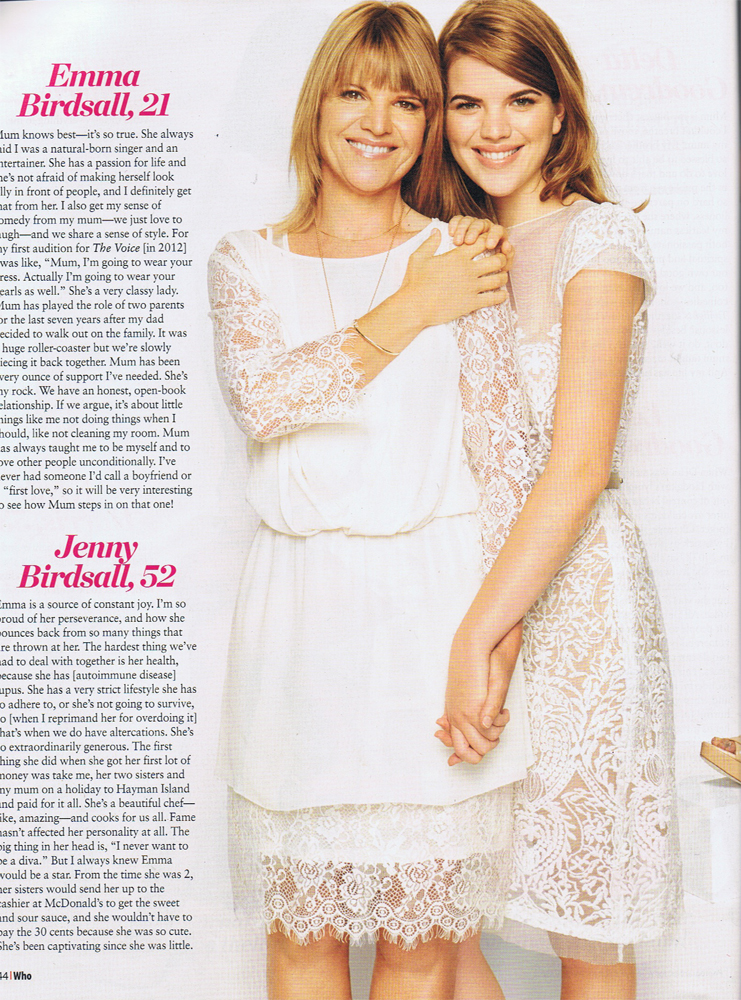 Emma and mum Jenny feature in WHO magazine for Barnardos Mother Of The Year