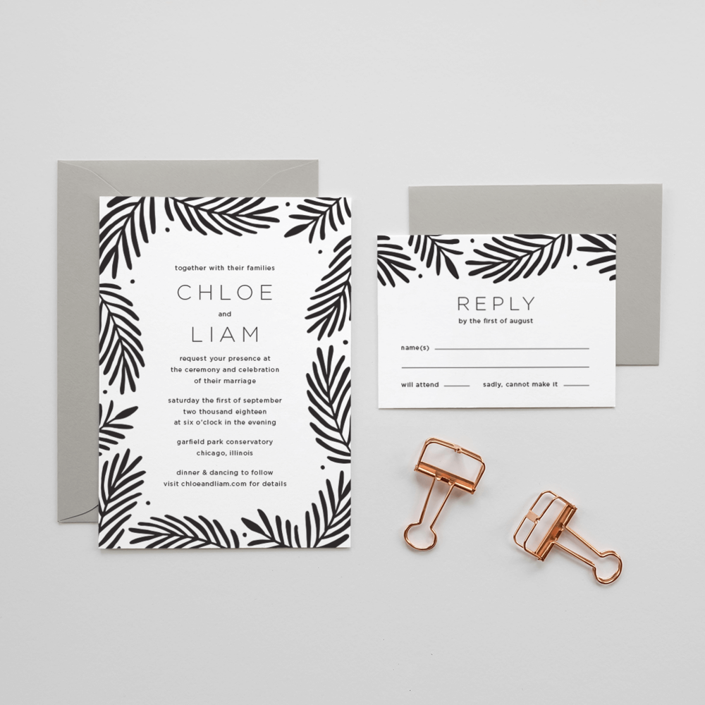 Fern Invitation Suite