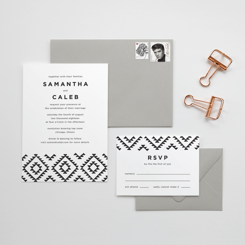 Kilim Wedding Invitation Suite