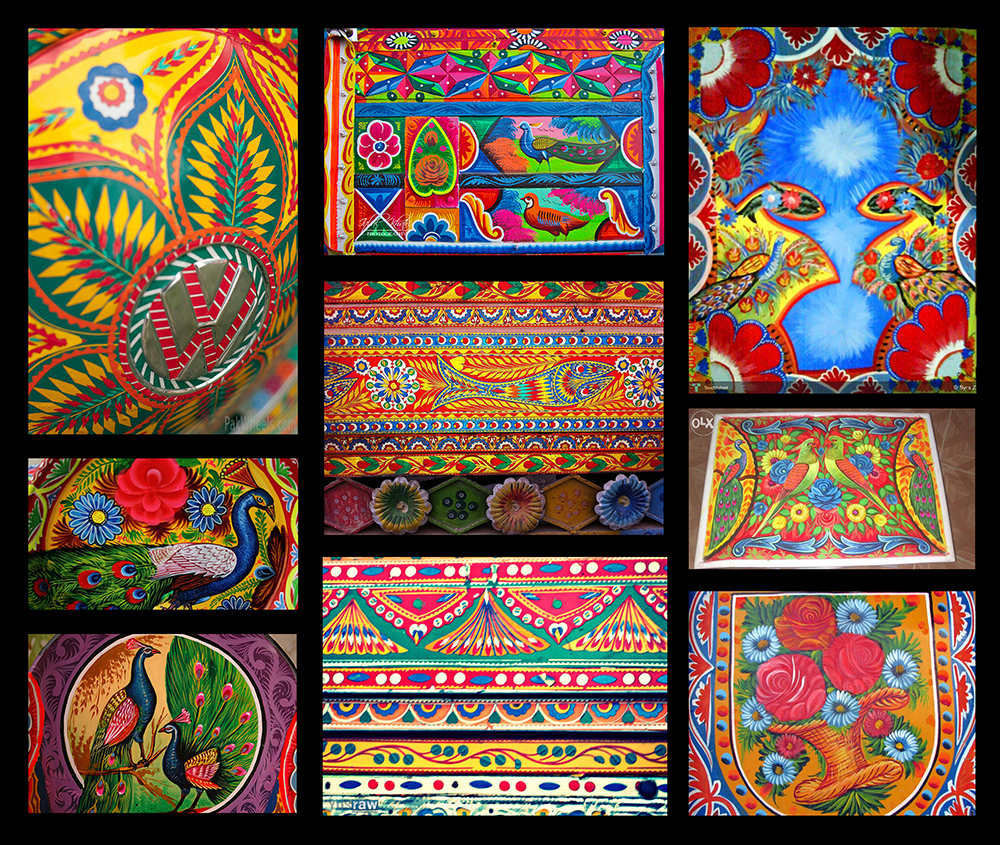 Some examples of truck art