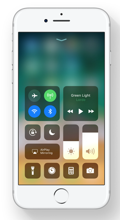 New iOS 11 Control Center via Apple.com