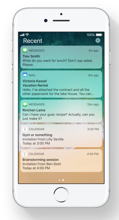 New iOS 11 Integrated Notifications & Lock Screen via Apple.com