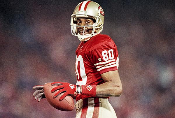 Receiver Jerry Rice via 49ers