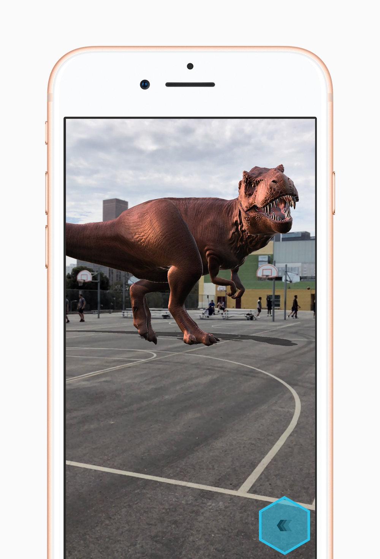 Augmented Reality (AR) now available via iOS 11. Image via  Apple .com
