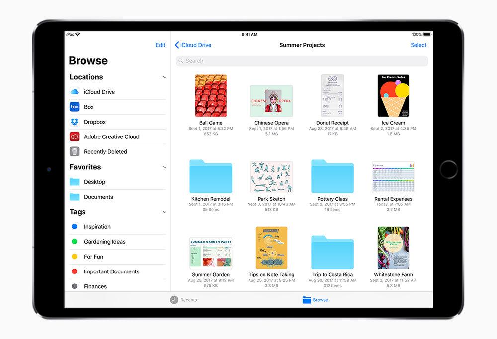 New File system via  Apple.com