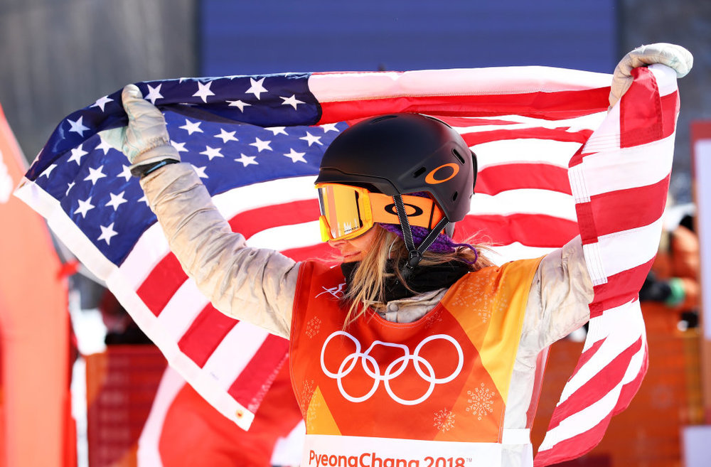 Jamie Anderson after winning Olympic Gold.