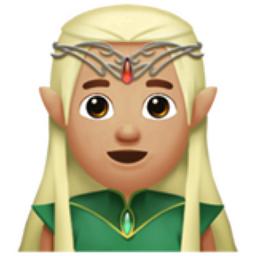 Elf Emoji by  Apple
