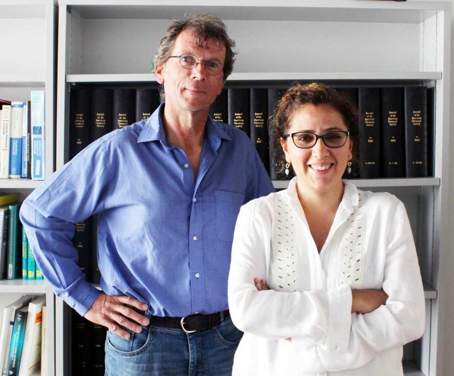 Prof. Dr. Hansjörg Grützmacher and Dr. Monica Trincado. Image via  ETH Zurich