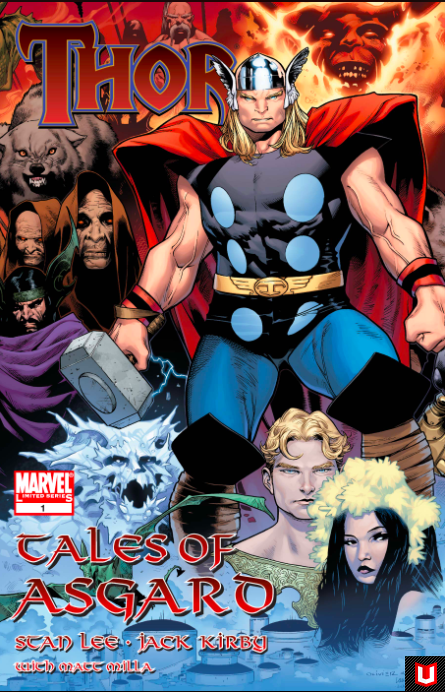 "2009 The Realm Eternal is brought to vivid new life in this remastered series featuring Lee and Kirby's Thor! Collecting the ""Tales of Asgard"" backup stories from Journey into Mystery (1952) #97-104. Image via  Marvel"