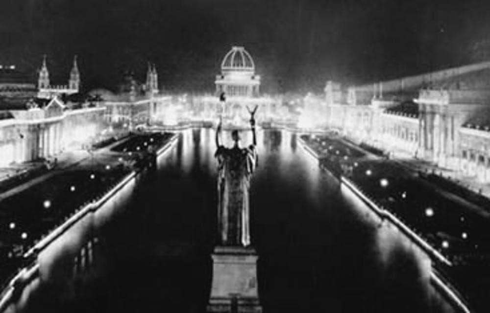 AC electric lights lit up the night at the Chicago World's Fair
