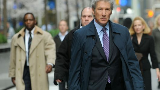 Image of Richard Gere in 2011 film shooting of Arbitrage, by Bobby Banks for Wire Image & Getty Images.